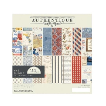 Authentique 6 x 6 QUEST Paper Pad que010