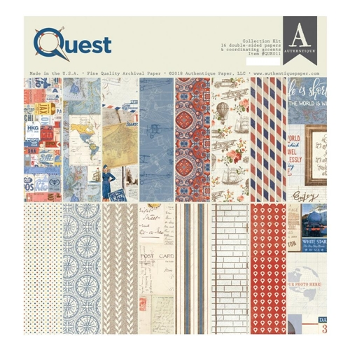 Authentique QUEST 12 x 12 Collection Kit que011 Preview Image
