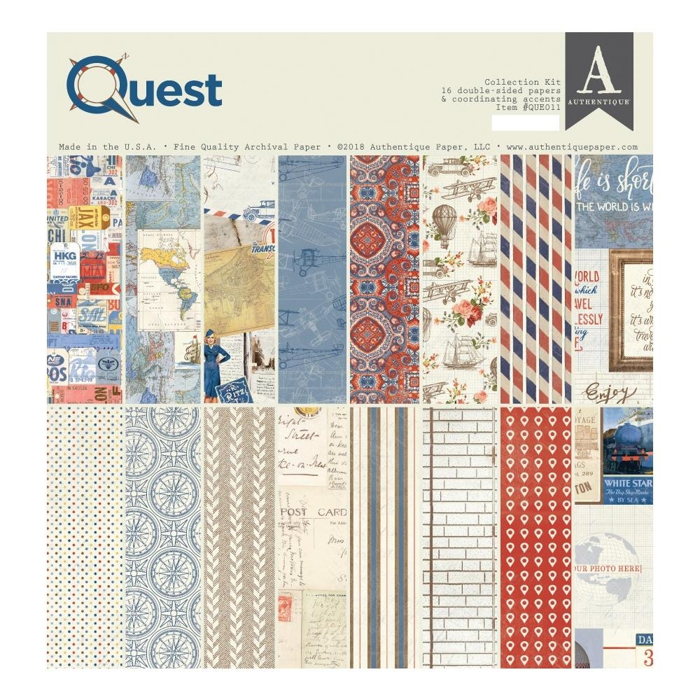 Authentique QUEST 12 x 12 Collection Kit que011 zoom image