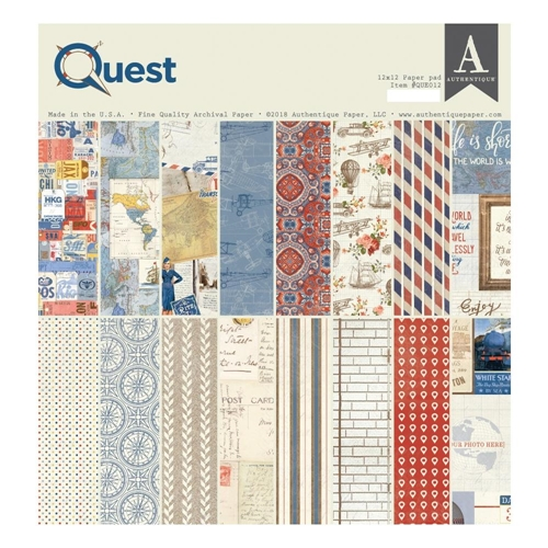 Authentique QUEST 12 x 12 Paper Pad que012 Preview Image