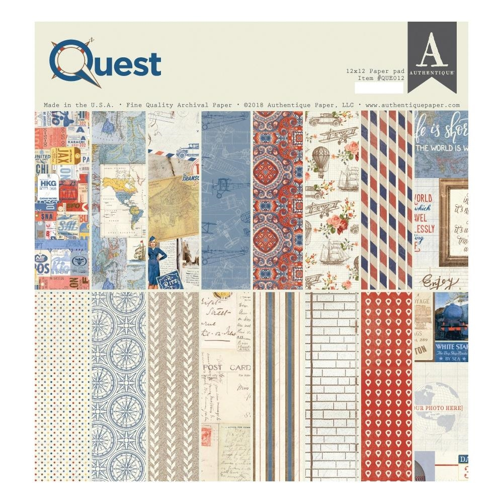 Authentique QUEST 12 x 12 Paper Pad que012 zoom image