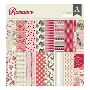 Authentique ROMANCE 12 x 12 Paper Pad rom012