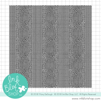 Ink Blot Shop Clear Stamp Set CABLE KNIT BACKGROUND inbl052
