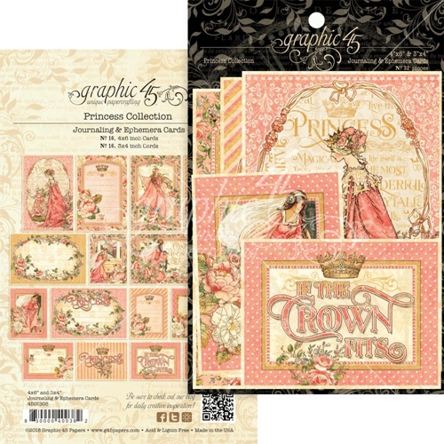 Graphic 45 PRINCESS Journaling And Ephemera Cards 4501805 Preview Image