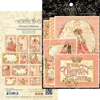 Graphic 45 PRINCESS Journaling And Ephemera Cards 4501805