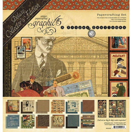 Graphic 45 A PROPER GENTLEMAN 12 x 12 Deluxe Collector's Edition 4501806 Preview Image
