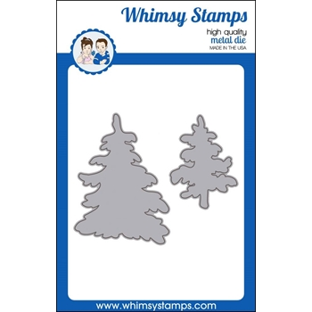 Whimsy Stamps SNOWY TREES Dies WSD428