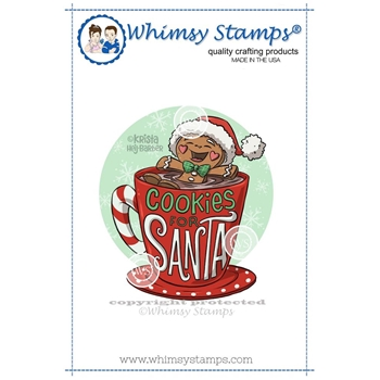 Whimsy Stamps COOKIES FOR SANTA Rubber Cling Stamp KHB149