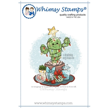 Whimsy Stamps MERRY CACTUS Rubber Cling Stamp KHB150