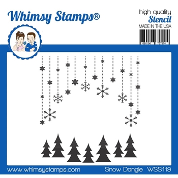 Whimsy Stamps SNOW DANGLE Stencil WSS119