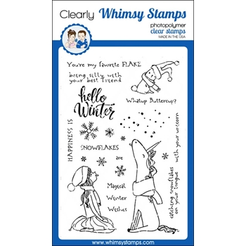 Whimsy Stamps FAVORITE FLAKE Clear Stamps CWSD207