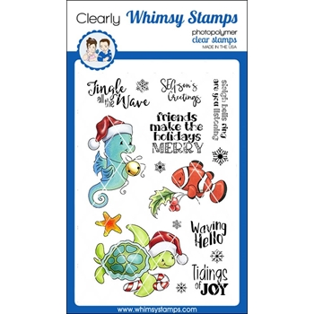 Whimsy Stamps CHRISTMAS TIDINGS Clear Stamps C1328