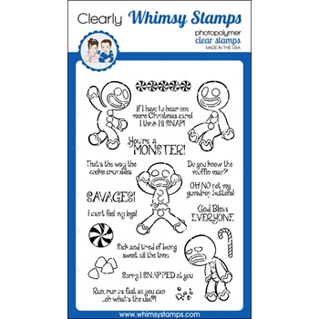Whimsy Stamps GINGERSNAPS! Clear Stamps CWSD208