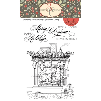 Colorado Craft Company Lovely Legs SANTA IS COMING Clear Stamps LL220