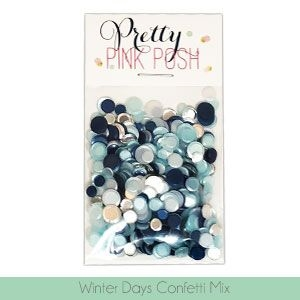 Pretty Pink Posh WINTER DAYS Confetti