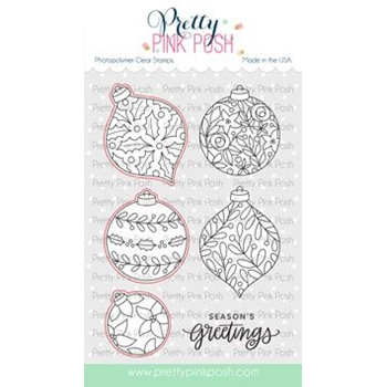 Pretty Pink Posh DECORATIVE ORNAMENTS Clear Stamps