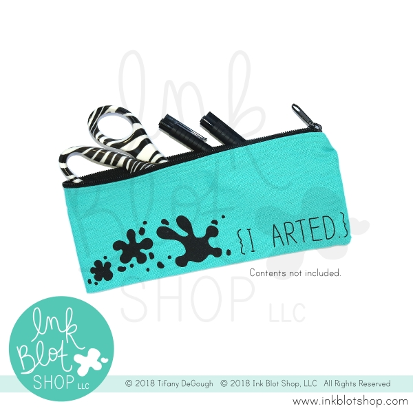 Ink Blot Shop Zipper Pouch I ARTED ibzp002 zoom image