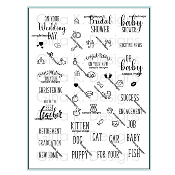 Gina K Designs REASONS TO CELEBRATE Clear Stamps 2958
