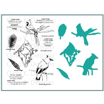 Gina K Designs SNOW BIRDS Clear Stamps and Dies BUNDLE 2934