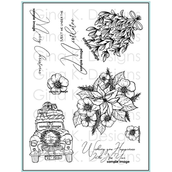 Gina K Designs OLD FASHIONED CHRISTMAS Clear Stamps 2941