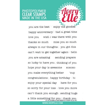 Avery Elle Clear Stamps SIMPLE SENTIMENTS ST-18-38