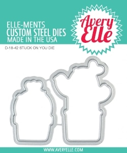Avery Elle Steel Dies STUCK ON YOU D-18-42