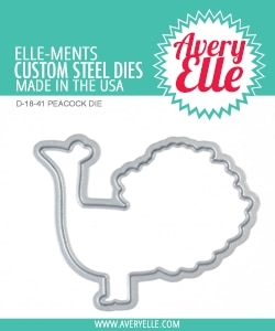 Avery Elle Steel Die PEACOCK D-18-41