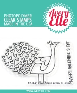 Avery Elle Clear Stamps PEACOCK ST-18-41