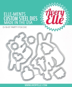 Avery Elle Steel Dies PARTY FOX D-18-37