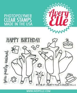 Avery Elle Clear Stamps PARTY FOX ST-18-37
