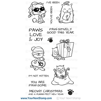 Your Next Stamp MEOWY CHRISTMAS Clear cyns681