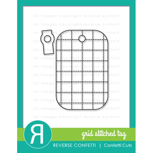 Reverse Confetti Cuts GRID STITCHED TAG Dies Preview Image