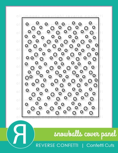 Reverse Confetti Cuts SNOWBALLS COVER PANEL Die  zoom image