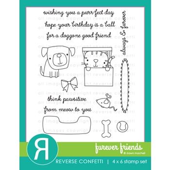 Reverse Confetti FUREVER FRIENDS Clear Stamps