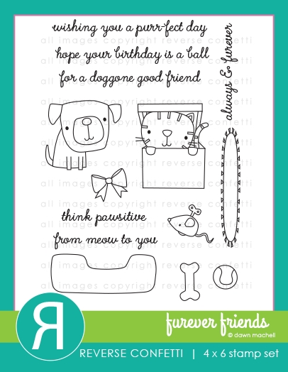 Reverse Confetti FUREVER FRIENDS Clear Stamps zoom image
