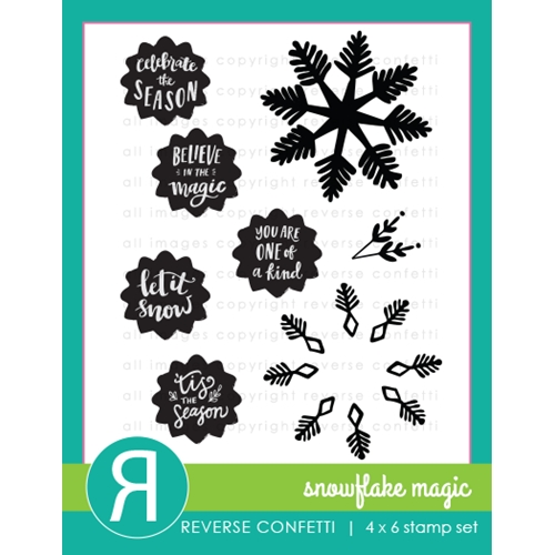 Reverse Confetti SNOWFLAKE MAGIC Clear Stamps Preview Image
