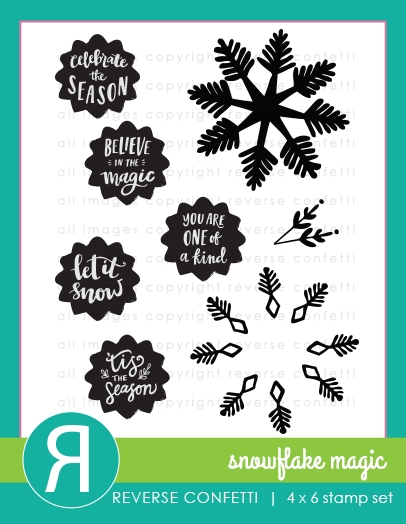 Reverse Confetti SNOWFLAKE MAGIC Clear Stamps zoom image