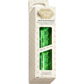 Couture Creations GREEN IRIDESCENT TRIANGULAR PATTERN Heat Activated Foil co726066