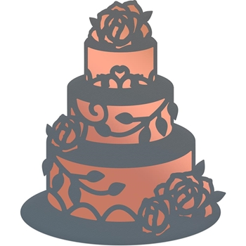 Couture Creations WEDDING CAKE Cut, Foil & Emboss Die co725905