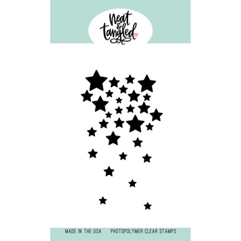 Neat and Tangled FALLING STARS Clear Stamp NAT440