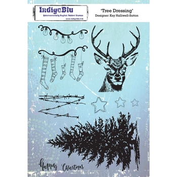 IndigoBlu Cling Stamp TREE DRESSING ind0473