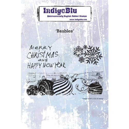 IndigoBlu Cling Stamp BAUBLES ind0472 Preview Image