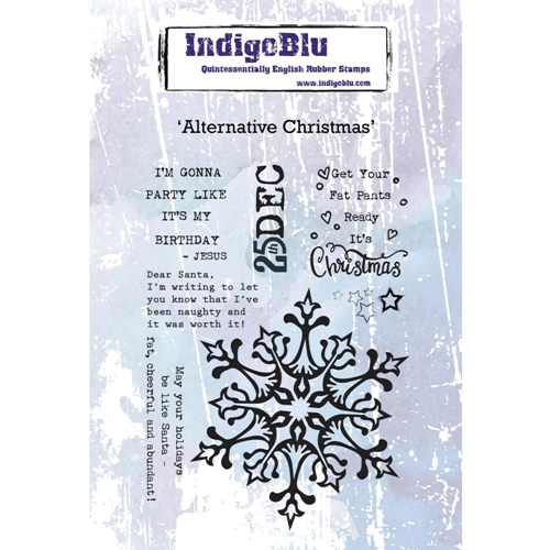 IndigoBlu Cling Stamp ALTERNATIVE CHRISTMAS ind0475 Preview Image