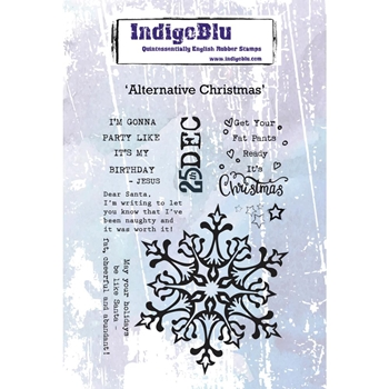 IndigoBlu Cling Stamp ALTERNATIVE CHRISTMAS ind0475