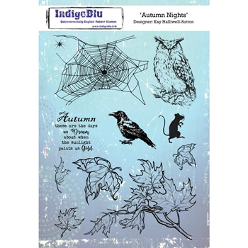 IndigoBlu Cling Stamp AUTUMN NIGHTS ind0485