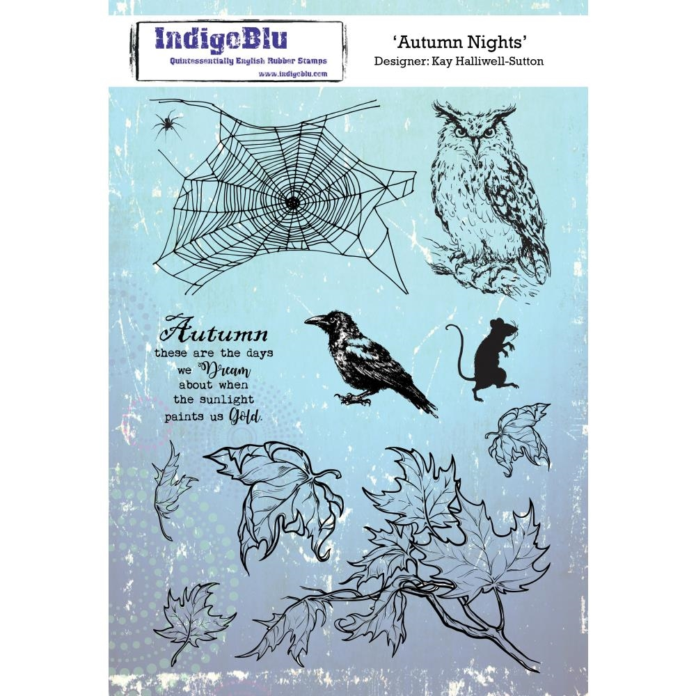 IndigoBlu Cling Stamp AUTUMN NIGHTS ind0485 zoom image