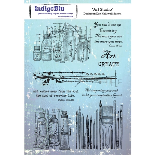 IndigoBlu Cling Stamp ART STUDIO ind0443 Preview Image