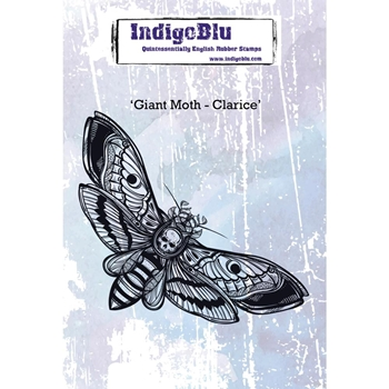 IndigoBlu Cling Stamp GIANT MOTH CLARICE ind0448