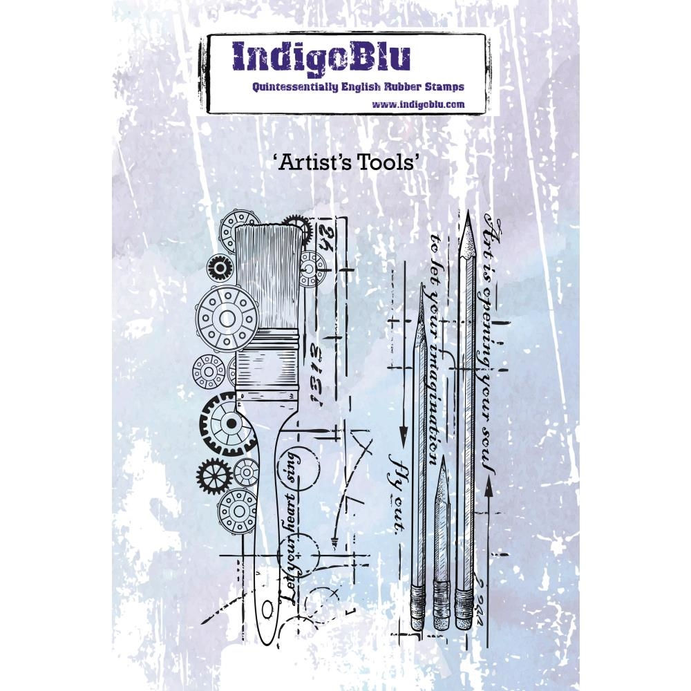 IndigoBlu Cling Stamp ARTISTS TOOLS ind0442 zoom image
