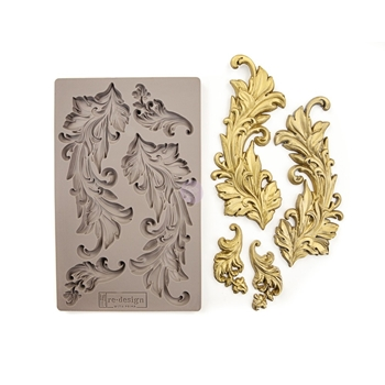 Prima Marketing BAROQUE SWIRLS Re-Design Decor Mould 635725
